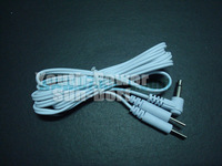 100pcs/lot Electrode Lead Wires TENS EMS MACHINE 3.5mm Standard Connection REUSABLE 2mm Plug in LONG-LIFE For Massage Machine