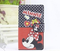 Free shipping For nokia lumia 520 cartoon mobile phone holsteins protective leather flip case