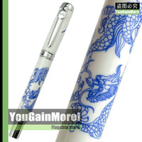 JINHAO 950 BLUE AND WHITE PORCELAIN DRAGON MEDIUM NIB FOUNTAIN PEN NEW HOT SELL