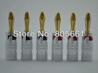 Hi End Audio High Performance Audio Grade Gold Plated banana plug connector For Hi End Speaker cable