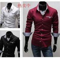 free shipping super cheap good quality fashion men shirt big size S to XXXL
