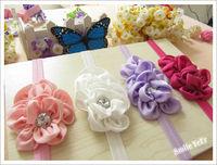 30pcs 7 Color Baby Girl Hair Headwear ( Baby Girl's Scale Hair Flower + Crochet Baby Headband) Baby Kids Headwear