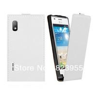 DHL Free shipping 3 colors Leather Phone Case For LG Optimus L5 E610 E612 50pcs/lot