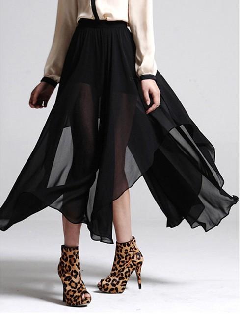 Женская юбка 2013 summer new sexy perspective skirts, chiffon skirt elastic waist irregular