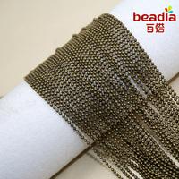 1.2MM Antiqued Bronze Alloy Knot Multipurpose Necklace Bracelet Chains