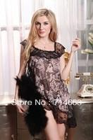 Sexy Black Lingerie Dress+G-STRING Super Sexy one size  084 Sleepwear,Underwear ,Uniform ,Kimono Costume