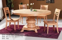 SOLID WOOD DINING ROOM FURNITURE, FACTORY WHOLESALE, OAK CHAIR AND DESK SET,T-601