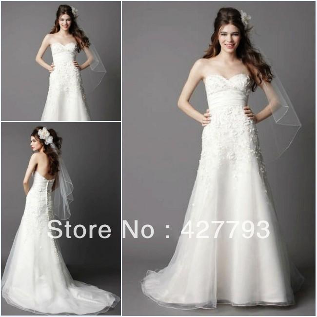 sweetheart flower embellished organza make your own wedding dress