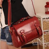 2013 women  korean ' spring fashion antique vintage briefcase Wine red  cross-body women messenger bag  free shipping