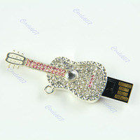 4GB 4G Crystal Guitar Gift Mode USB Memory Stick Flash Pen Drive U-Disk+ Free shipping