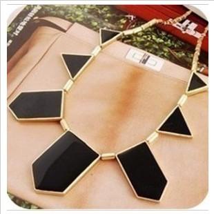 Min. order $9 (mix order) Fashion accessories black irregular geometry necklace choker necklace pendant XL171