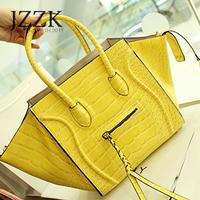 2013 women's handbag fashion crocodile pattern bag smiley bag female handbag messenger bag