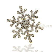 City Girl FERR SHIPPING Quality accessories rhinestone brooch pin silk scarf buckle style