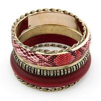 [Mix 15USD] Fashion fashion vintage serpentine pattern wool multi-layer bracelet