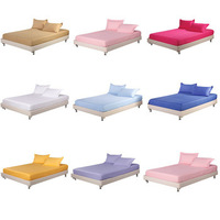 100% cotton satin fitted SHEET BED simmons protective case bed sets 150x200cm 180X200CM tyuu