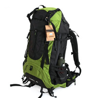 60l outdoor hiking backpack bag mountaineering  backpack  ride shiralee backpack double-shoulder travel bag free shipping