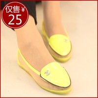 Boat shoes Women 2014 dipper shoes patchwork flat white pointed toe sandals juniors