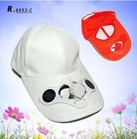 Free Shipping Solar Power Hat Cap Cooling Cool Fan Solar Panels Hat/Solar Fan Cap/New Portable Sun Solar Energy Fan Cap Hat