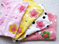Retail Hot Sweet flower girls long-sleeved coat/contracted girls coat/children clothing/baby clothes 1PCS