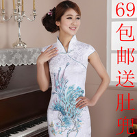 Free Shipping  slim summer exquisite China Style Cheongsam dresses, fashion women  cheongsam dress high quality