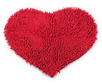Free shipping! romantic heart quality ultrafine fiber chenille mats doormat soft bathroom Mat