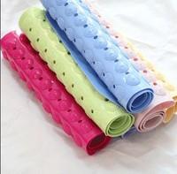 2014 Promotion Hot Sale Freeshipping Pvc Endless High Quality Fashion Dot Mats Massage Bath Mat Slip-resistant Pad 433g 71*38cm