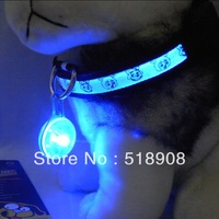 2013 New Fashion 3Led pendant luminous pet hangings dog light flash night lighting flashing supplies tags for dogs or cats pigs