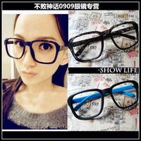 Y62 vintage glasses box big black eyeglasses frame rubric for non-mainstream mirror