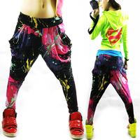 Women sportswear Spring and summer Loose Neon candy color harem pants women dance pants women's sports pants