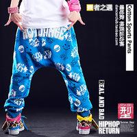 AA-25 Sports pants Candy blue street sports Harem pants Hip hop pants women Lovers Loose dance pants women sportswear