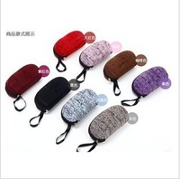 freeshipping 2013 new fashion Peanut type zipper glasses cases sunglasses cases men and women multicolor