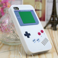 Game style design Silicone Case for iPhone 4/ 4S,RETRO LUCK BOY STYLE CASE FOR IPHONE 4/4S