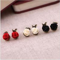 E88   fashion vintage rose stud earring earrings female free shipping (Min order $10 mixed order)