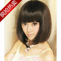 Wig fashion short hair fluffy bangs bobo 032 repair  free shipping