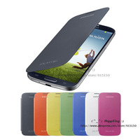 Dw(002) Quality Slim Side Back Battery Flip Cover Case for Samsung Galaxy S4 i9500 with Retail package (12 pieces/lot)