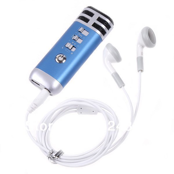 Free Shipping--Mini Pocket Microphone Karaoke Player Home KTV Work for Smart Phone/iPhone/iPad/Mp3/Mp4/PC Wholesale(China (Mainland))
