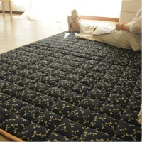 Robo 100% cotton slub quilting tatami mat bedroom carpet 100% cotton japanese style dragonfly