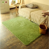 Robo quality handmade scissors flower solid color carpet bedside mat slip-resistant absorbent carpet
