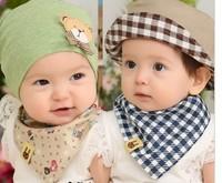 100% cotton baby boys and girls bib baby towel bandanas scarf children cravat infant towel,5pcs/lot