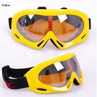 Single layer Snow Goggles Free Shipping 100% UV400 Lens Wind Protection Outdoor Goggles Eyewear, Unisex Cheap Ski Goggles