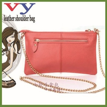 2013 new arrival leather lady pink color handbags designers brand simple nice clutch bags for shopping free shipping for buyer(China (Mainland))