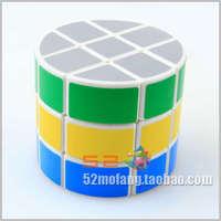 New design high quality three stage cylinder pattern magic square popular strange-shape magic cube free shipping