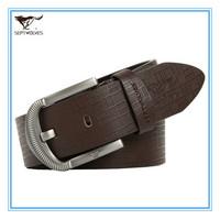 New Brand Straps of Genuine Leather Men Pin Buckle Belt Cowskin Split Leather Men Brown Wide  Waist  Belt Alloy Buckle 702030100