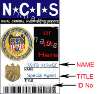 EMS to USA custom personalized ur pic ncis  second card half price 1 movie id cards + 1 card case & holder