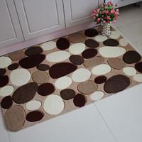 Cobblestone polyacrylonitrile fiber carpet modern coffee table bathroom slip-resistant mats doormat customize