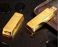 best selling 10pcs/lot gold bars model usb 2.0 memory stick thumb pen drive
