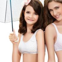 2 young girl bra vest thin 100% cotton student sports underwear