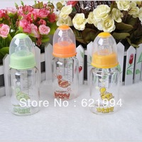 Free shipping Baby bottles for infants crystal diamond glass bottle silicone pacifier standard caliber 120 ml