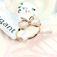 Free Shipping Italina Rigant fashion jewelry wholesale 18K Gold Plated  Butterfly Crmophane Ring,Girlfriend Gift
