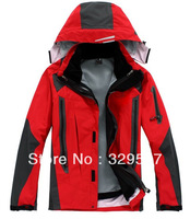 Free shipping high quality low temperature new men's outdoor three laminated adhesive waterproof cimbing skiing 2 in 1 sportwear